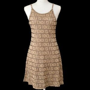 🆕 Fendi FF printed spandex Cocktail Dress 💃🏻